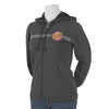 Santa Cruz Embroidered Other Dot Hooded Zip Juniors Sweatshirt Charcoal Heather