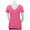 Santa Cruz Classic Dot Fitted V-Neck T-Shirt Juniors Hot Pink