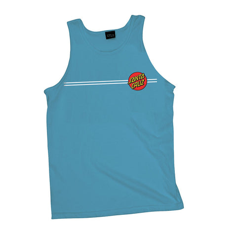 Santa Cruz Classic Dot Tank T-Shirt Carolina Blue