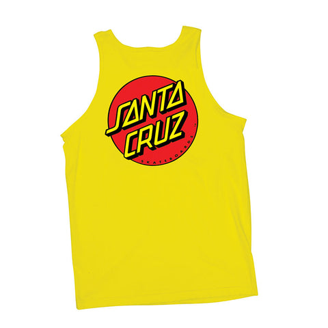 Santa Cruz Classic Dot Tank T-Shirt Yellow