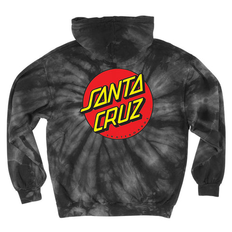 Santa Cruz Classic Dot Pullover Hooded Sweatshirt Spider Black