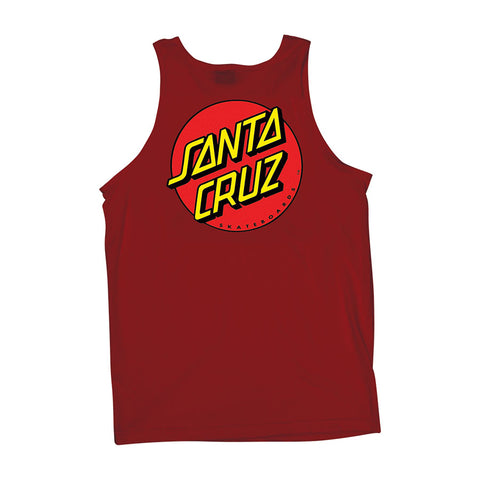 Santa Cruz Classic Dot Tank T-Shirt Red