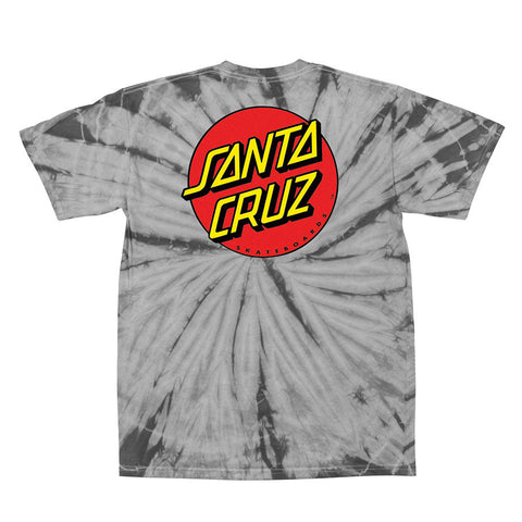 Santa Cruz Classic Dot Regular T-Shirt Spider Silver