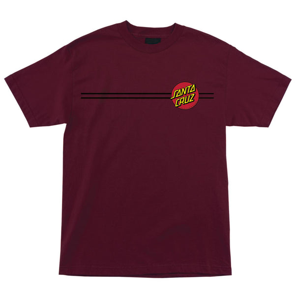 Santa Cruz Classic Dot Regular T-Shirt Burgundy