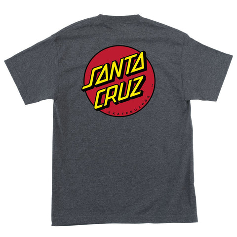 Santa Cruz Classic Dot Regular T-Shirt Charcoal Heather