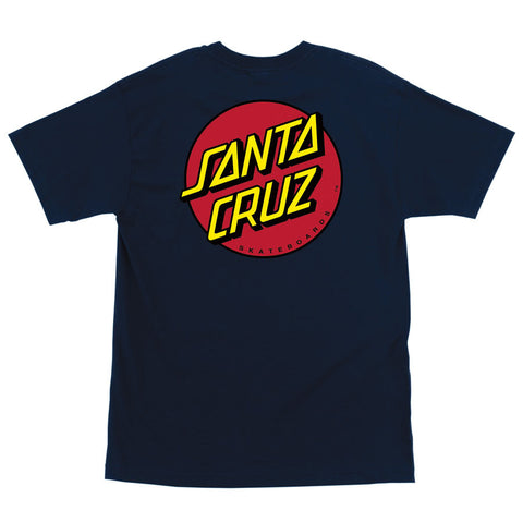 Santa Cruz Classic Dot Regular T-Shirt Navy