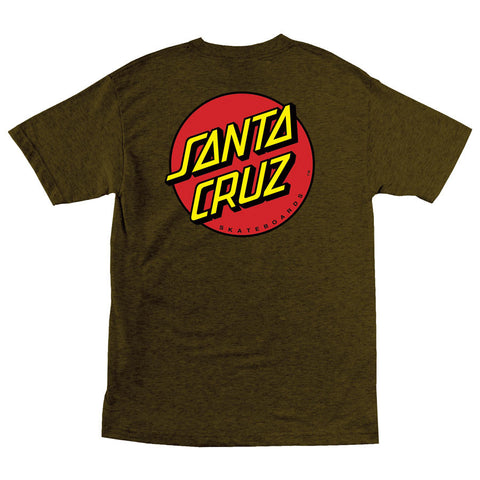Santa Cruz Classic Dot Regular T-Shirt Brown Heather