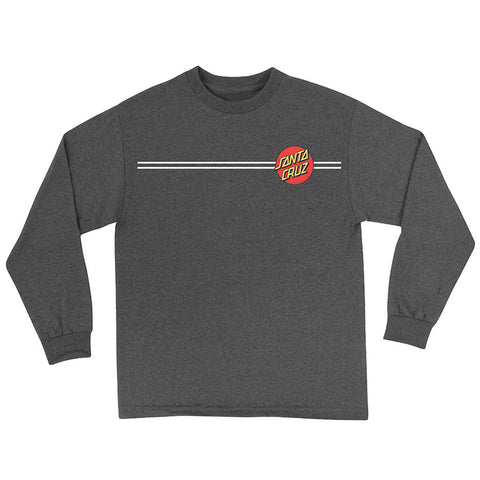 Santa Cruz Classic Dot Long Sleeve T-Shirt Charcoal Heather