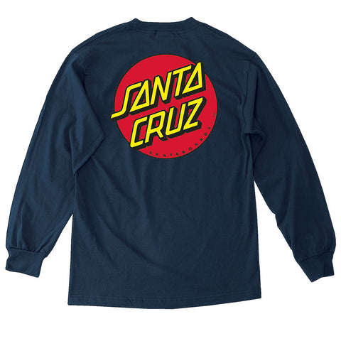 Santa Cruz Classic Dot Long Sleeve T-Shirt Navy