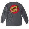 Santa Cruz Classic Dot Long Sleeve T-Shirt Charcoal
