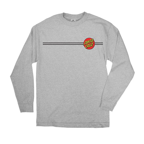 Santa Cruz Classic Dot Long Sleeve T-Shirt Athletic Heather