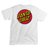 Santa Cruz Classic Dot Regular T-Shirt Youth White