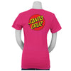 Santa Cruz Classic Dot T-Shirt Juniors Hot Pink