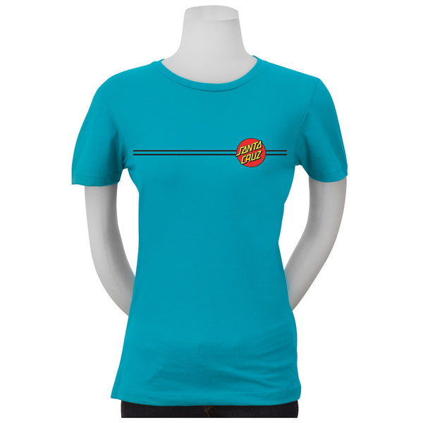 Santa Cruz Classic Dot T-Shirt Juniors Tahiti Blue