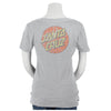 Santa Cruz Classic Dot Fitted V-Neck Juniors T-Shirt Heather Grey