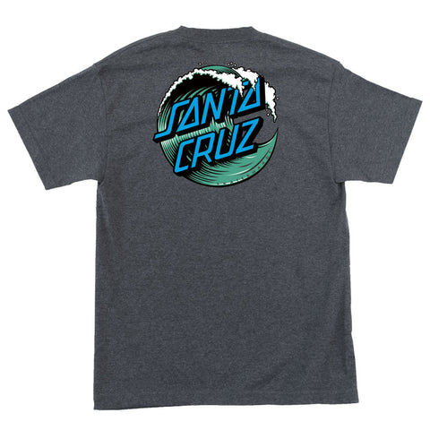Santa Cruz Wave Dot Regular T-Shirt Charcoal Heather