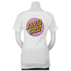 Santa Cruz Other Dot V-Neck T-Shirt Juniors White