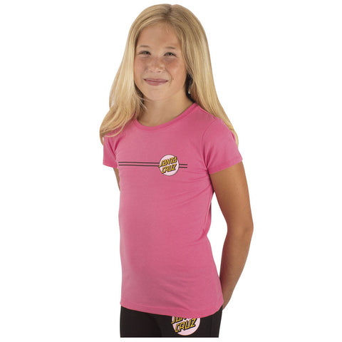 Santa Cruz Other Dot Fitted Girls Youth T-Shirt Hot Pink