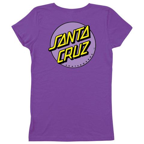 Santa Cruz Other Dot Fitted Girls Youth T-Shirt Purple Rush