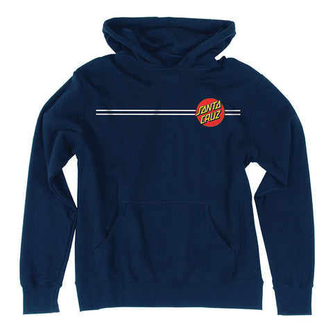 Santa Cruz Classic Dot Pullover Hoodie Sweatshirt Youth Navy