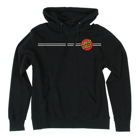 Santa Cruz Classic Dot Pullover Hooded Sweatshirt Black