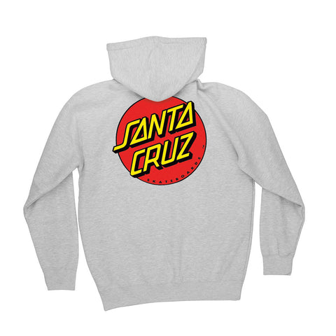 Santa Cruz Classic Dot Pullover Hooded Sweatshirt Grey Heather