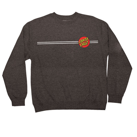 Santa Cruz Classic Dot Crew Neck Sweatshirt Charcoal Heather