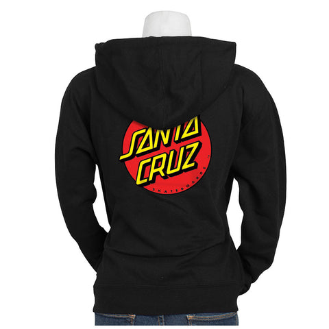 Santa Cruz Classic Dot Hooded Pullover Juniors Sweatshirt Black