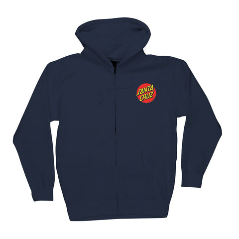 Santa Cruz Classic Dot Hooded Zip Sweatshirt Navy