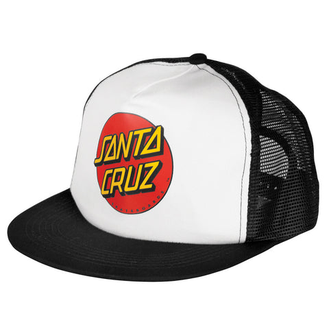 Santa Cruz Classic Dot Trucker Mesh Hat Black/White