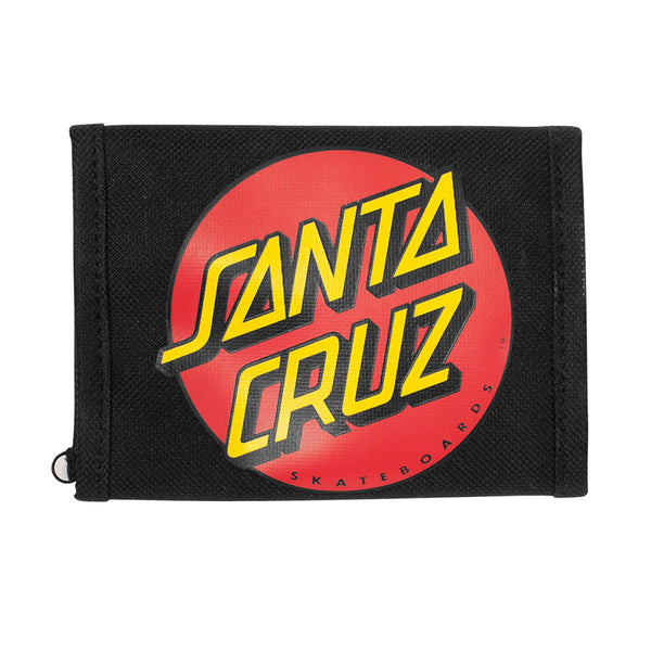 Santa Cruz Classic Dot Tri-Fold Wallet Black