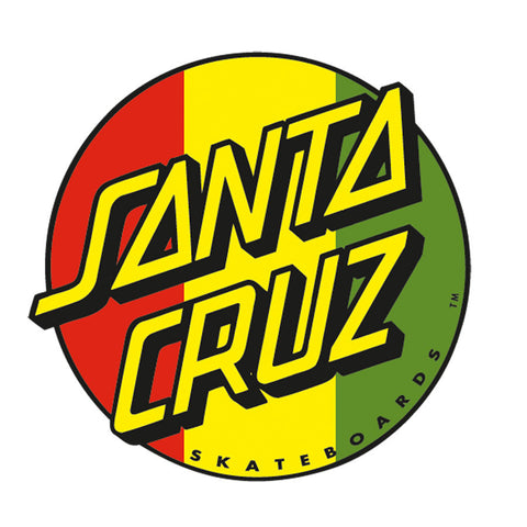 Santa Cruz Rasta Dot Sticker 3 inch Red/Gold/Green
