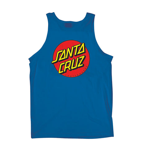 Santa Cruz Classic Dot Tank T-Shirt Royal Blue