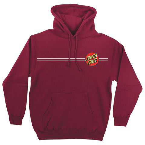 Santa Cruz Classic Dot Pullover Hooded Sweatshirt Currant