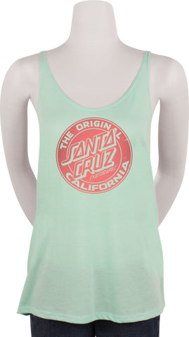 Santa Cruz Cali Front Dot Flowy Juniors Tank Mint
