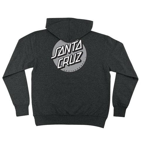 Santa Cruz Other Dot Pullover Hoodie Charcoal Heather w/Silver