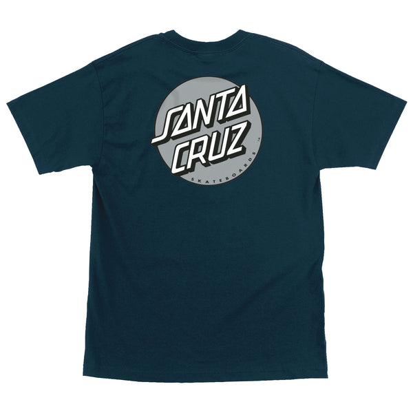 Santa Cruz Other Dot Men's T-Shirt Harbor Blue w/Silver