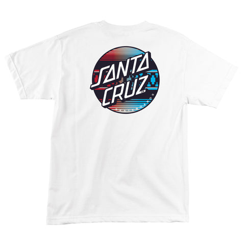 Santa Cruz Serape Dot Fade Men's T-Shirt White