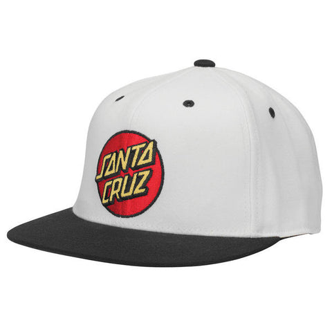 Santa Cruz Classic Dot Flexfit Stretch Hat Off White