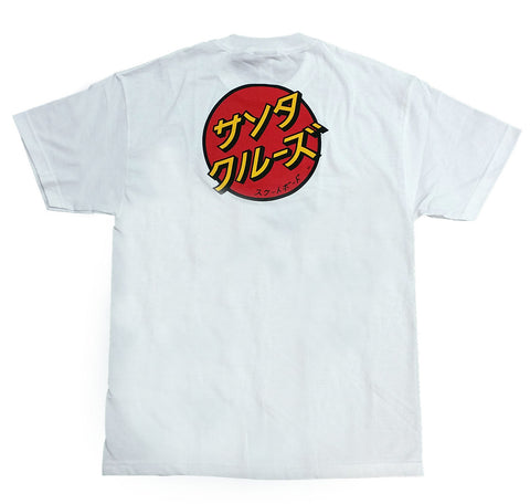 Santa Cruz Japanese Dot Regular Fit S/S T-Shirt White