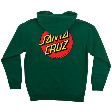Santa Cruz Classic Dot Pullover Hooded Sweatshirt Dark Green