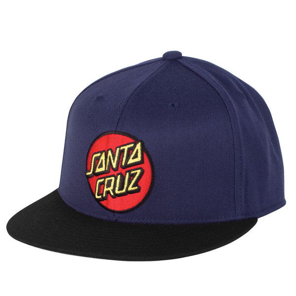 Santa Cruz Classic Dot Flexfit Stretch Hat Navy/Black