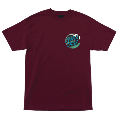 Santa Cruz Wave Dot Regular T-Shirt Burgundy