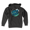 Santa Cruz Wave Dot Men's Pullover Hooded L/S Sweatshirt Charcoal Heather