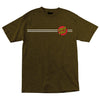 Santa Cruz Classic Dot T-Shirt Brown Heather
