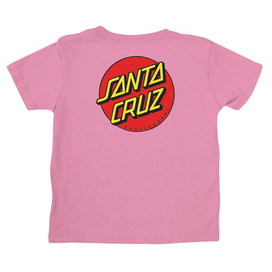 Santa Cruz Classic Dot Regular S/S T-Shirt Toddlers Pink