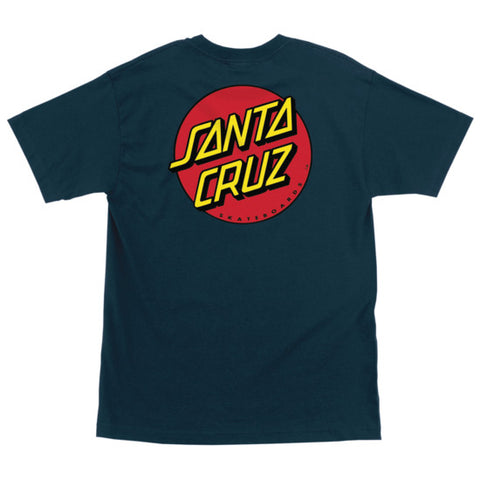 Santa Cruz Classic Dot Regular T-Shirt Harbor Blue