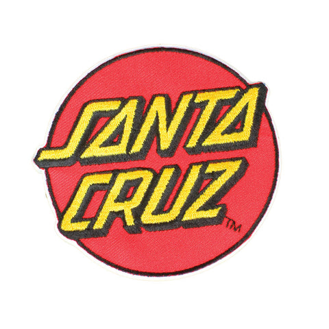 Santa Cruz Classic Dot Patch 3.25 Inch Red
