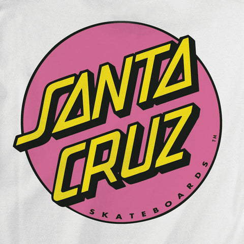 Santa Cruz Other Dot Fitted T-Shirt Juniors White