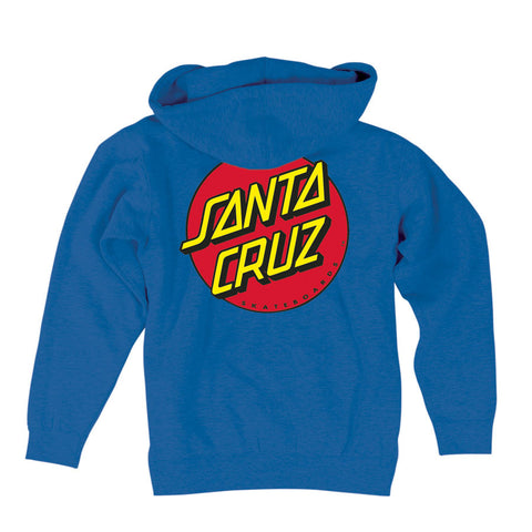 Santa Cruz Classic Dot Hooded Zip Sweatshirt Royal Blue
